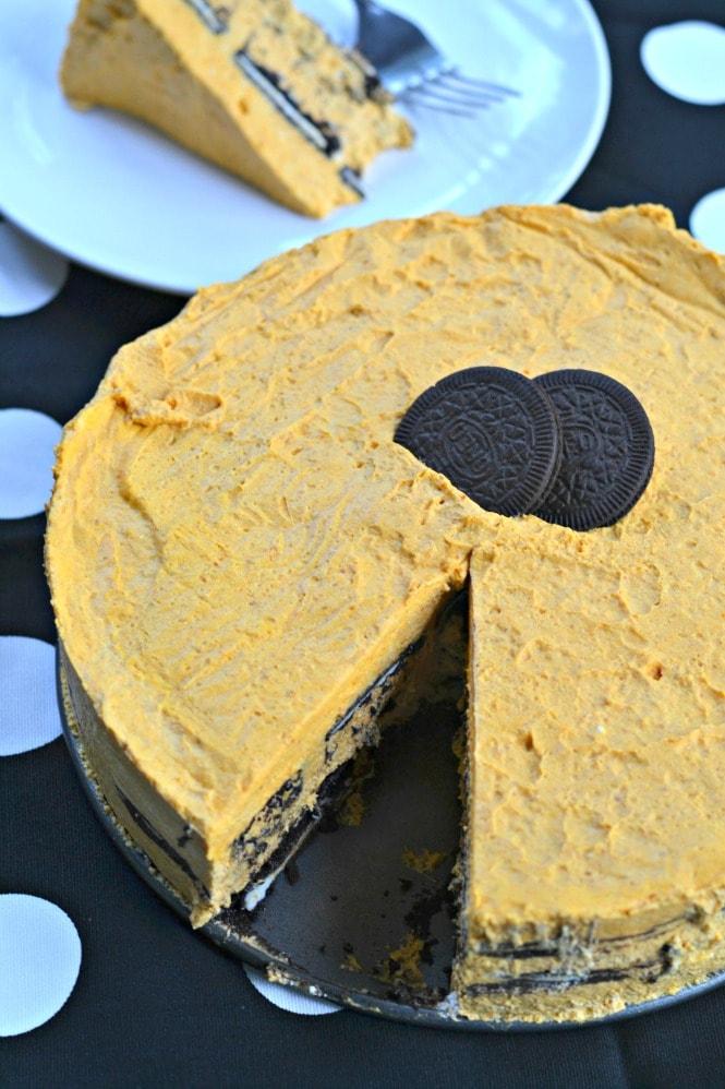 Oreo Pumpkin Icebox Cake