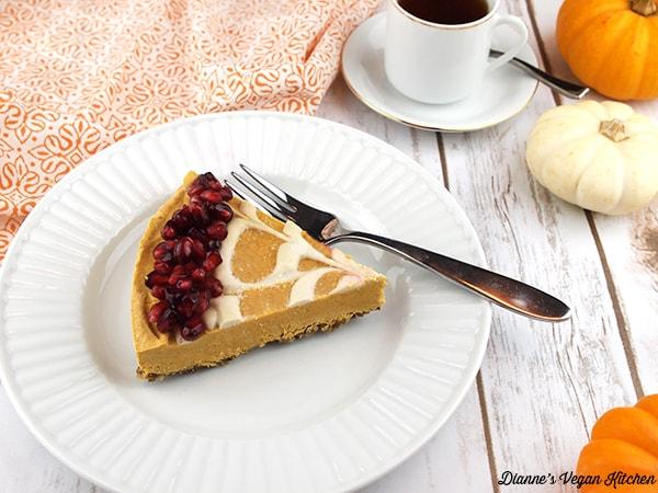 No-Bake Vegan Pumpkin Cheesecake