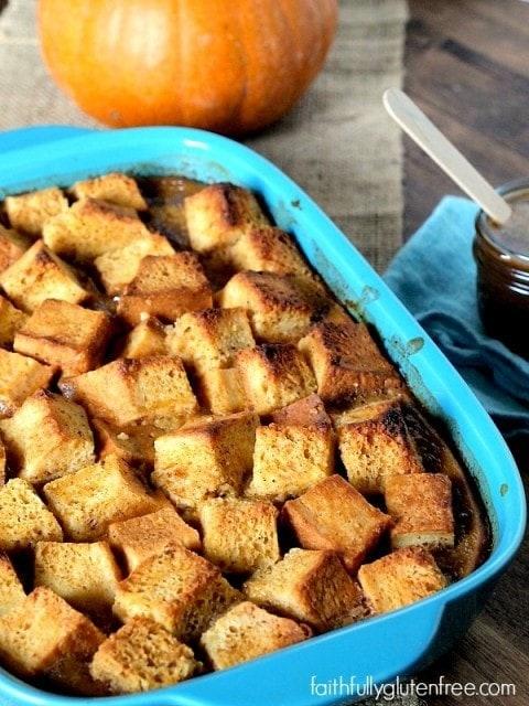 Gluten Free Pumpkin Bread Pudding