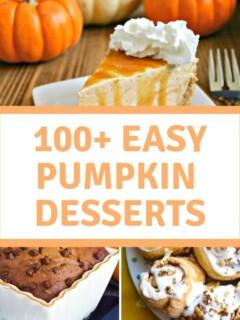 Easy Pumpkin Desserts