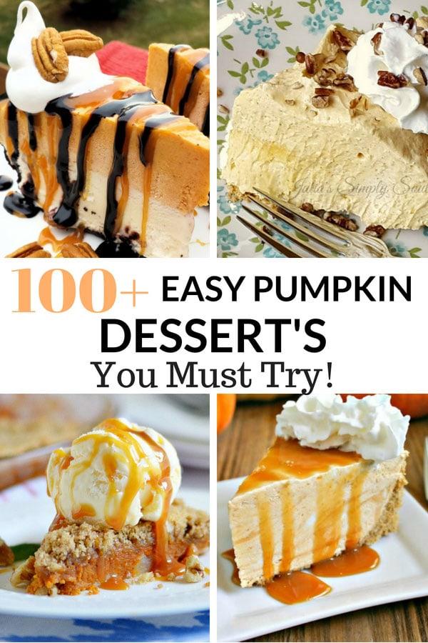 100 Easy Pumpkin Desserts
