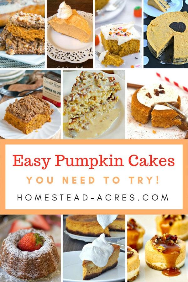 Easy Pumpkin Cake Recipes