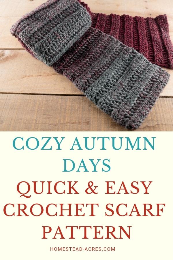 Easy Beginner Crochet Scarf Pattern For Women