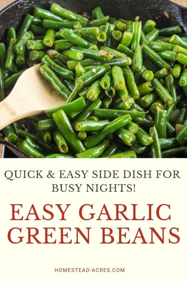 Garlic Green Beans Side Dish Recipe