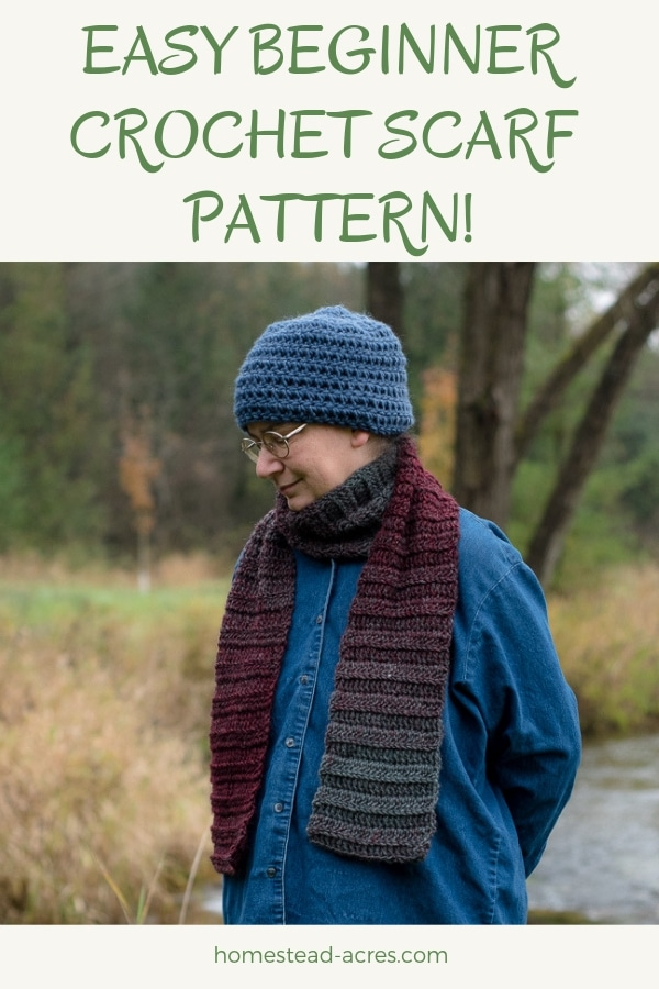 Quick Crochet Scarf Pattern Bulky Yarn Beginner