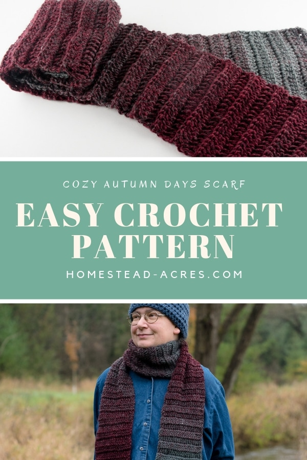 Quick and Easy Beginner Crochet Scarf Pattern