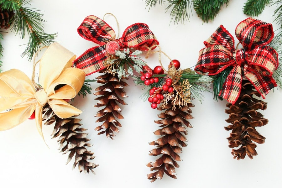 DIY Pinecone Christmas Ornaments