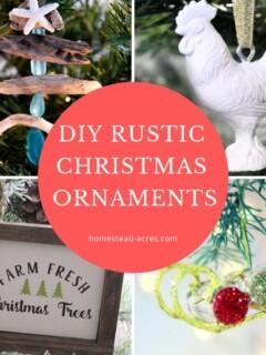 DIY Rustic Christmas Ornaments