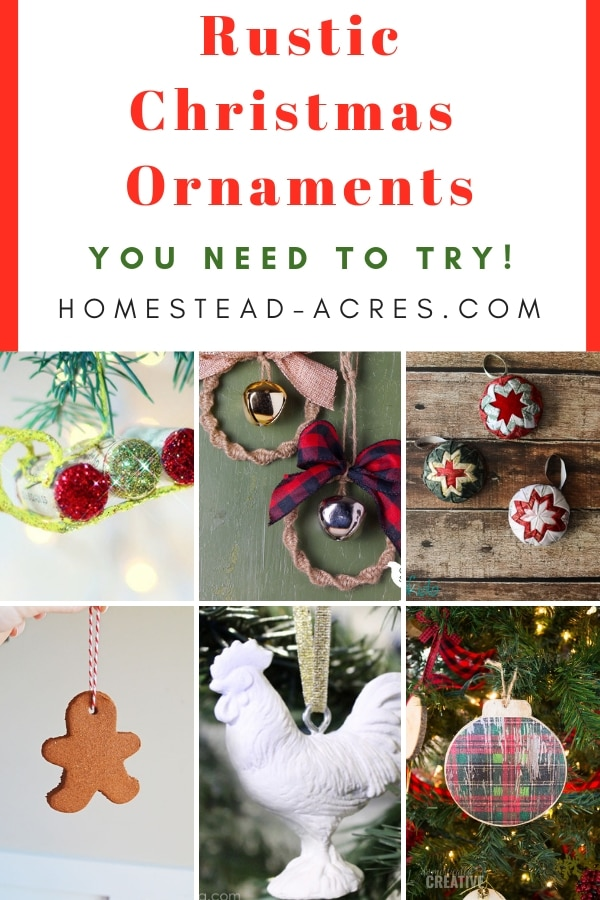 Rustic Christmas Ornament Ideas