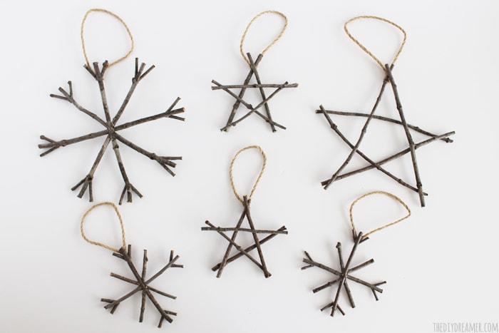 DIY Christmas Twig Ornaments