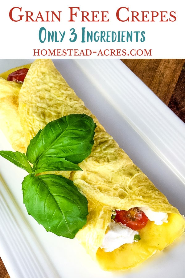 Easy grain free crepes recipe that is perfect for both sweet and savory crepes.