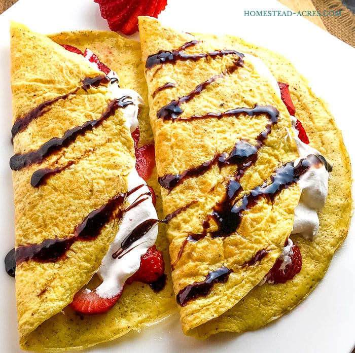 Quick and easy grain free crepes recipe. It's perfect for both savory and sweet crepes.