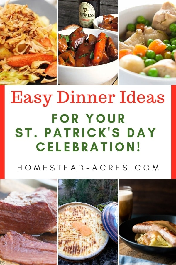 Simple and Easy St. Patrick's Day Dinner Ideas