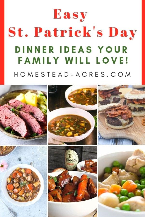 Easy St. Patrick's Day Dinner Ideas