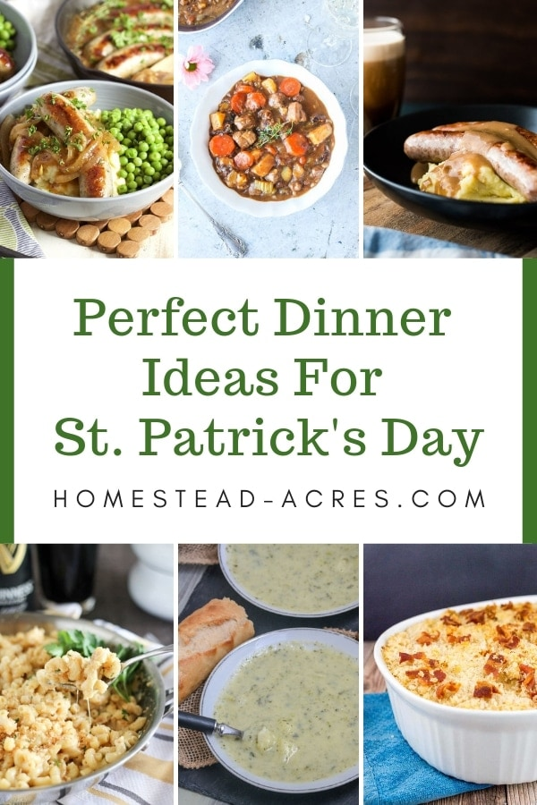 Easy St. Patrick's Day dinner ideas for your party of family dinner.
