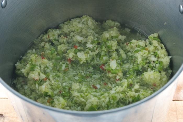Adding vinegar