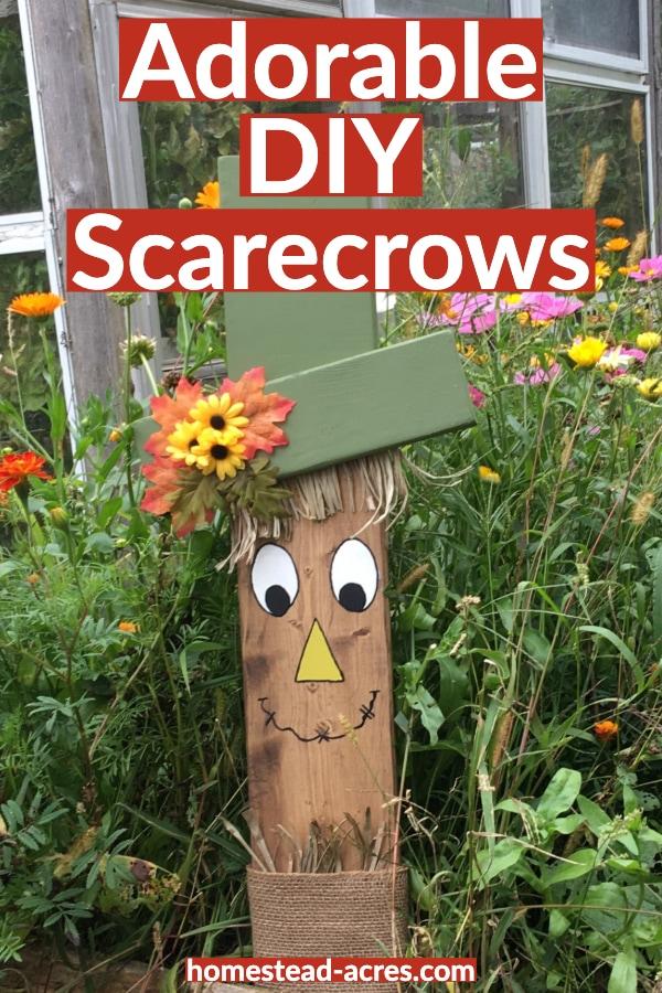 Adorable DIY Scarecrows