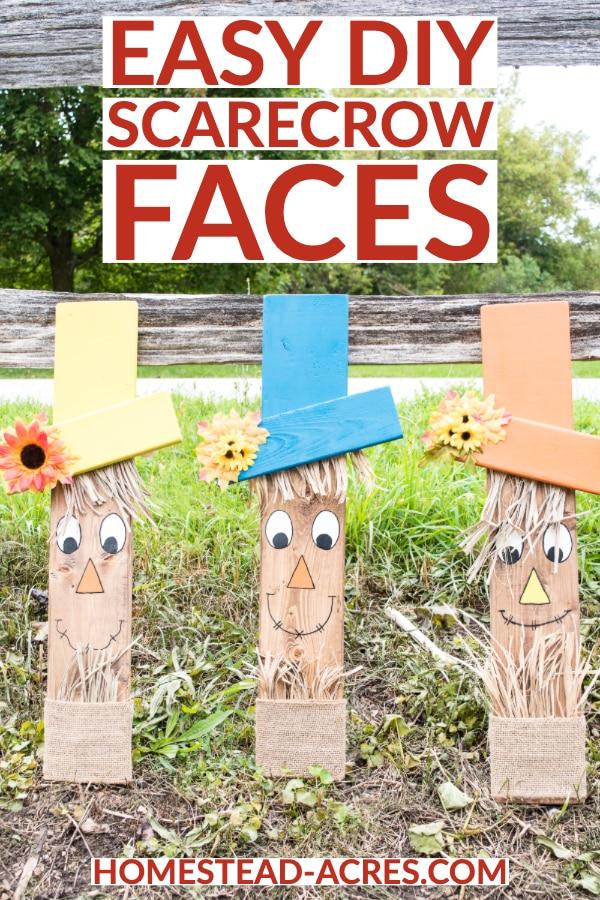 Easy DIY Scarecrow Faces