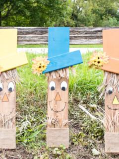 Easy Diy wooden scarecrow face