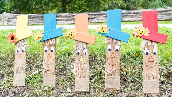 Easy Wood Scarecrow Face
