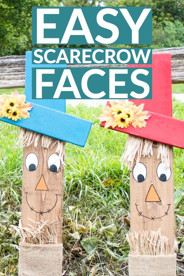 Easy scarecrow faces