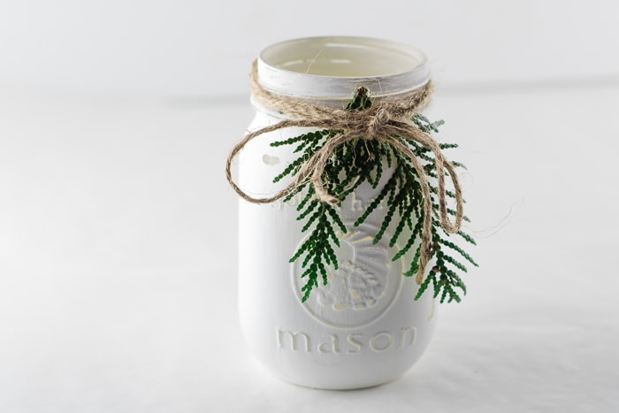 Simple twine bow to top off the jars.