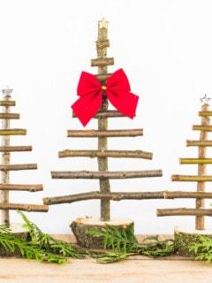 DIY Twig Christmas Trees