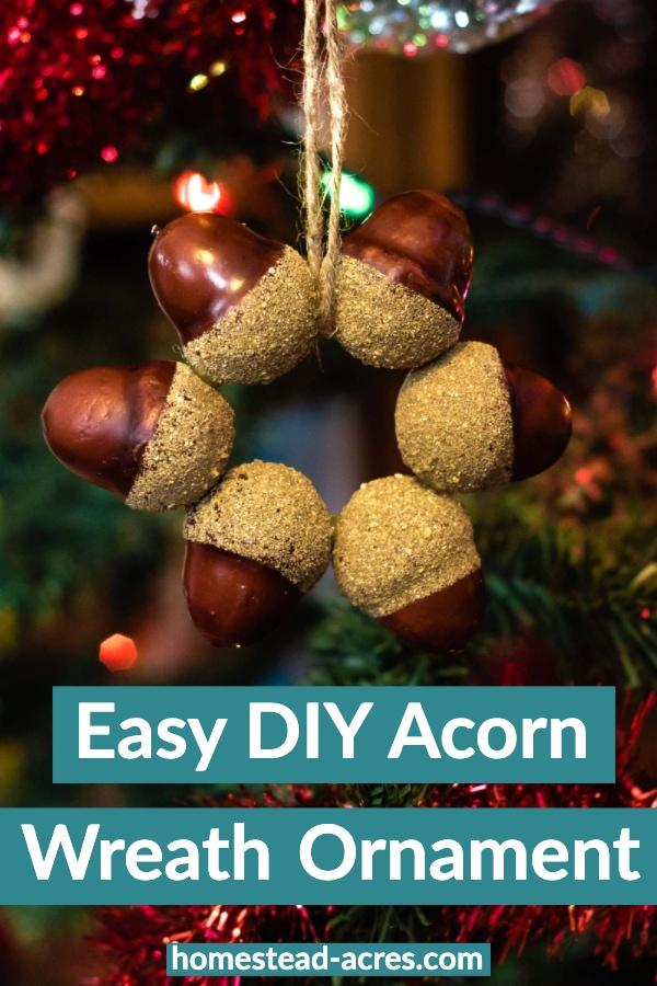DIY acorn wreath ornaments