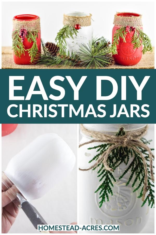 Easy DIY Christmas Jars