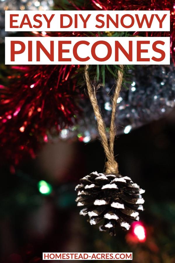 Easy DIY Snowy Pinecones