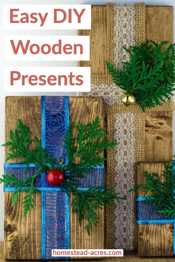 Easy DIY Wooden Presents
