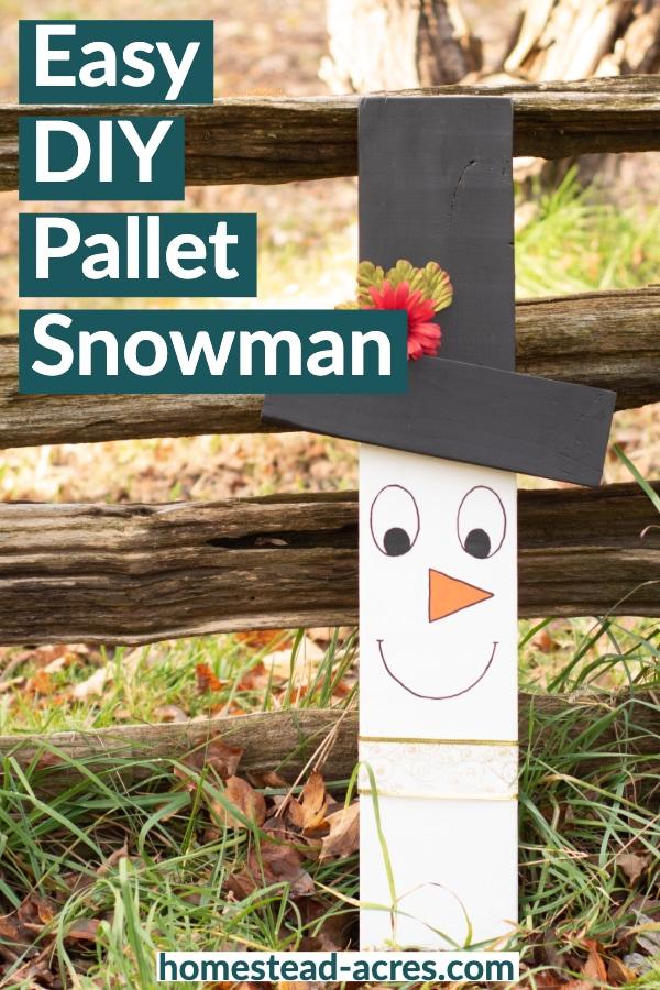 Easy DIY pallet snowman faces