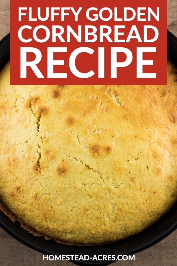 Fluffy Golden Cornbread Recipe