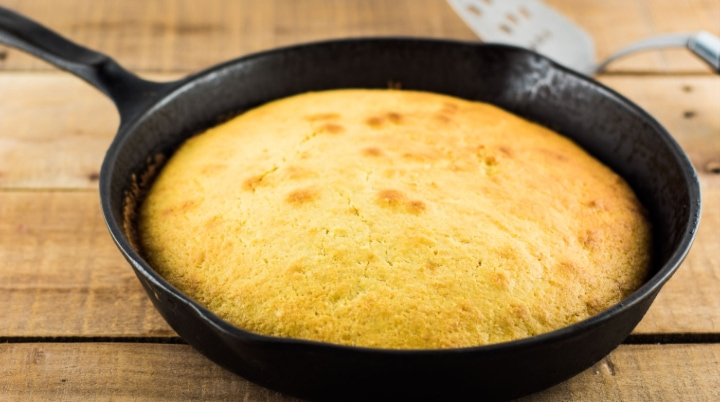 Skillet Cornbread Without Buttermilk