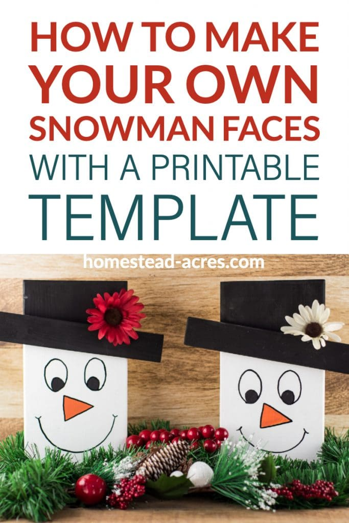 How To Make Your Own Snowman Face