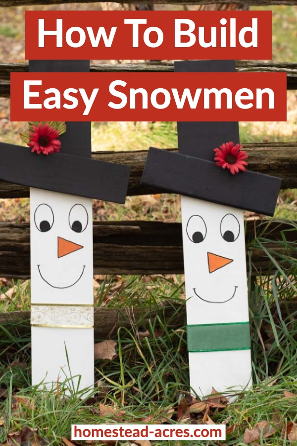 How to build easy snowman
