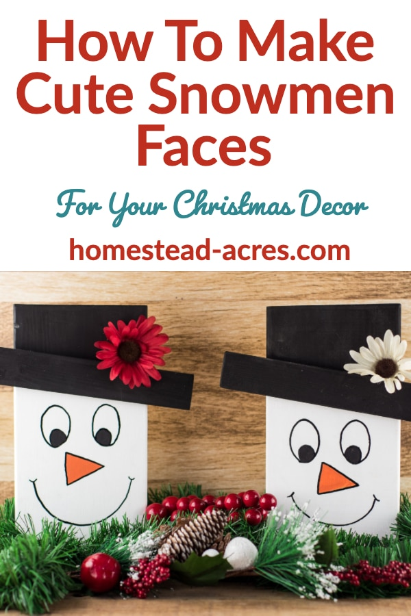 How to make cute snowman faces craft