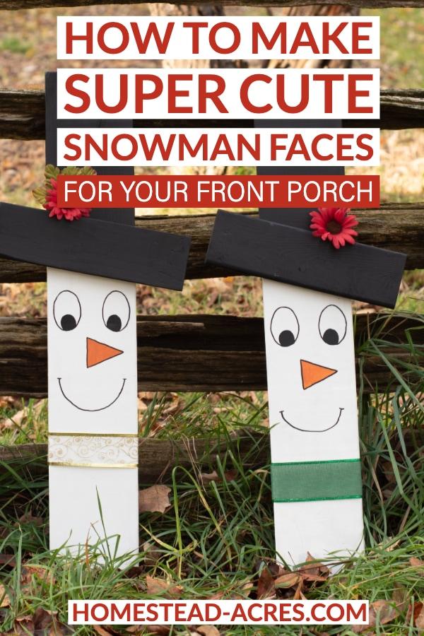 How to make super cute snowman faces