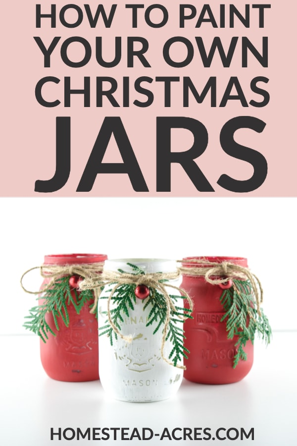 How to paint your own Christmas jars