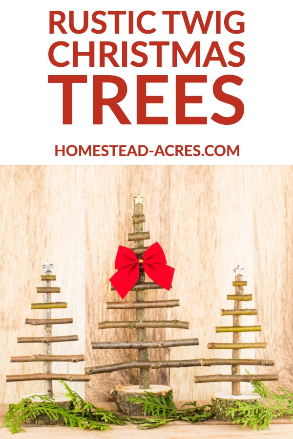 Rustic Twig Christmas Trees