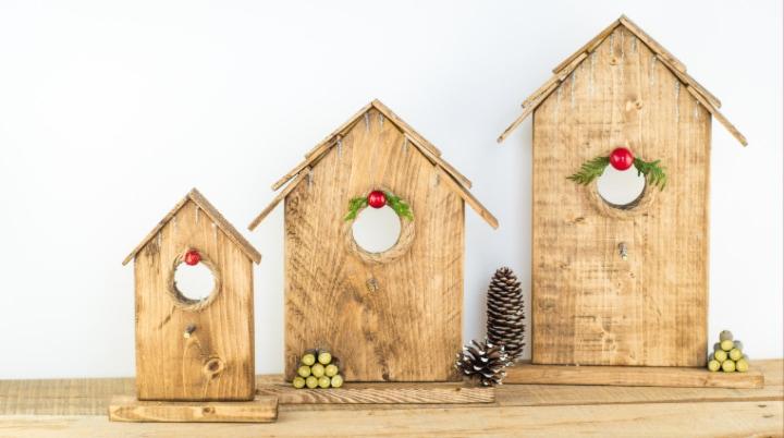 Christmas Birdhouse Craft