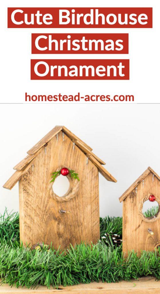 Cute Birdhouse Christmas Ornament