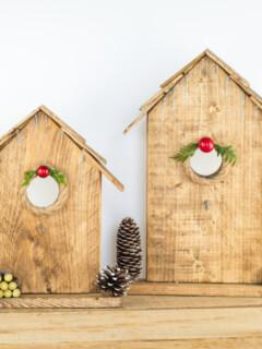 Easy Birdhouse Christmas Ornament