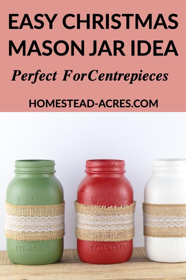 Easy Christmas Mason Jar Idea