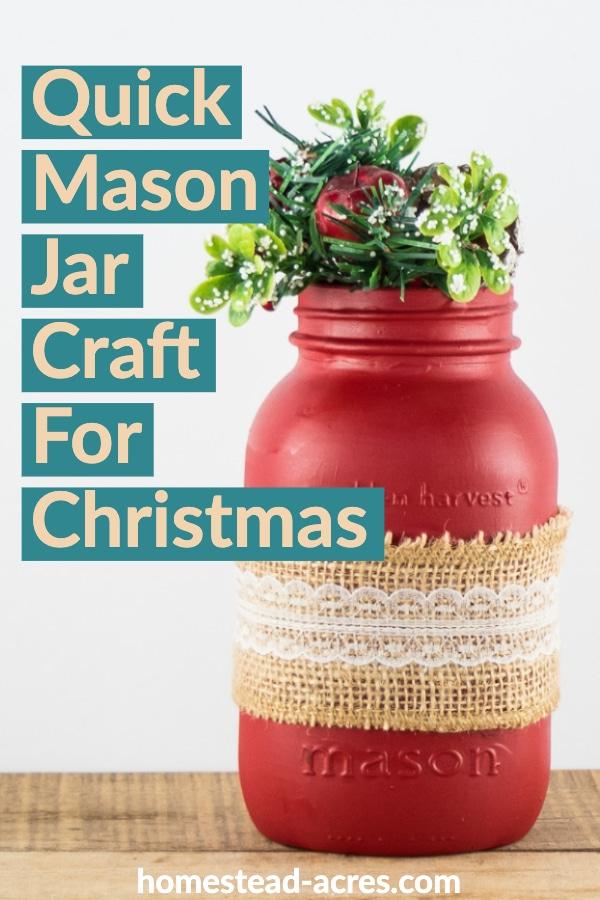 Quick Mason Jar Craft For Christmas