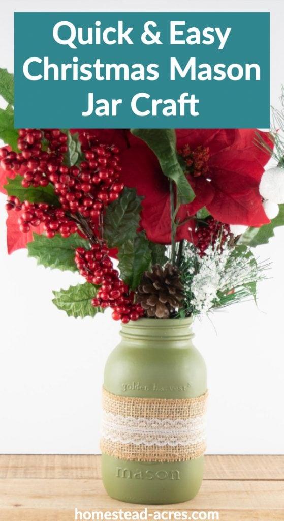Quick and Easy Christmas Mason Jar Craft